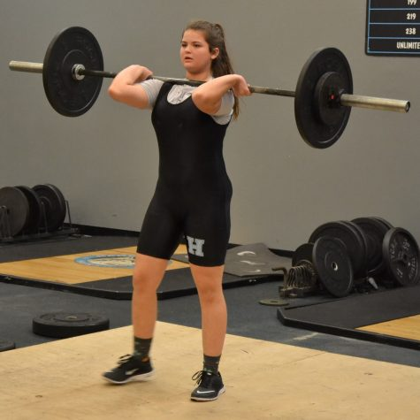 Girls weightlifting powers through season