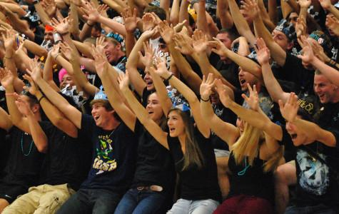 Pep rally strong for first home football game