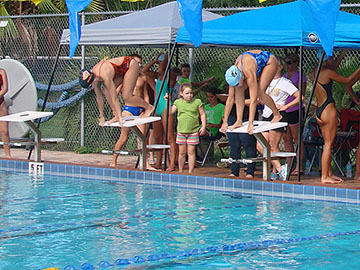 Swim team makes splash at first meet