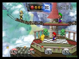 The first Smash Bros. on the Nintendo 64.