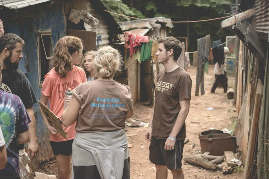 In the slums, McKeel attempts to pursuade families to buy water from her boss. McKeel was paid only after two families agreed to buy from her.