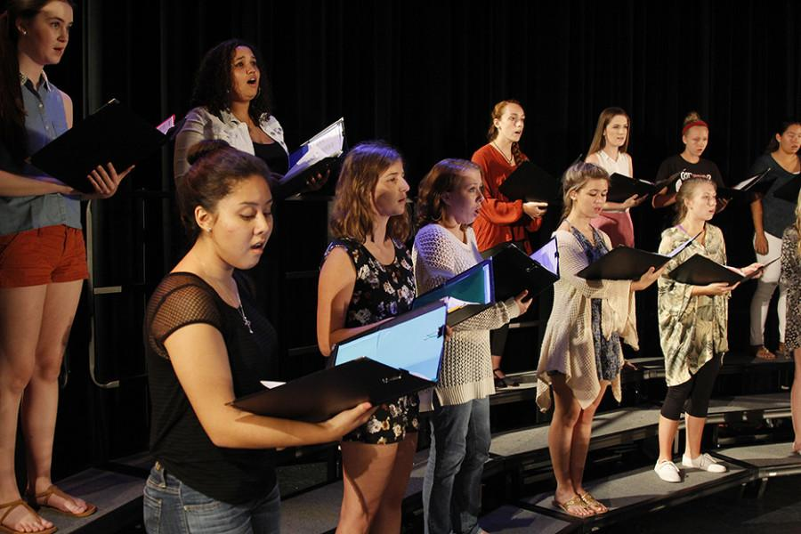 Voices of Hagerty rehearses their pieces for the last time on Oct. 14 before concert showcase on Oct. 15.