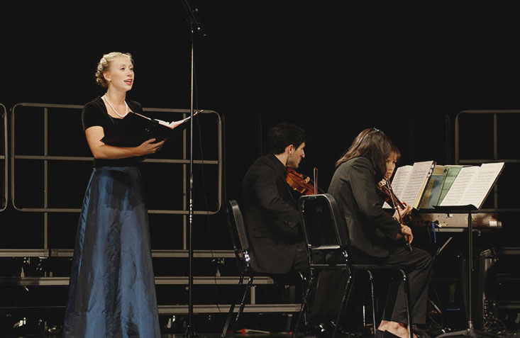 Senior Claire Tendl performs on Oct. 15 at the chorus programs Fall Masterworks Concert.