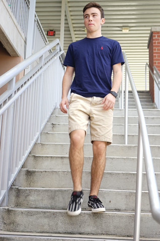 Sophomore Hayden Welsh seeks to maintain a unique image with personalized clothes