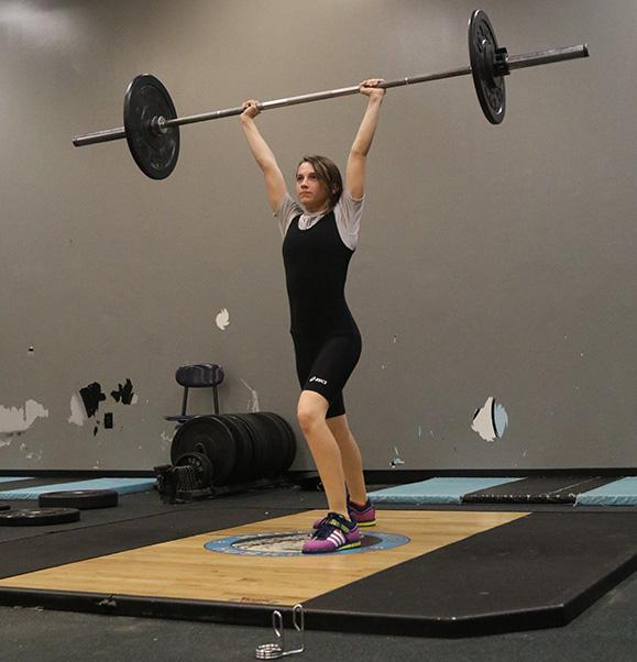 Freshman Cheyanne Ducharme hit her personal record  of 105 pounds for clean and jerk at states, surpassing expectations of first-year lifters.