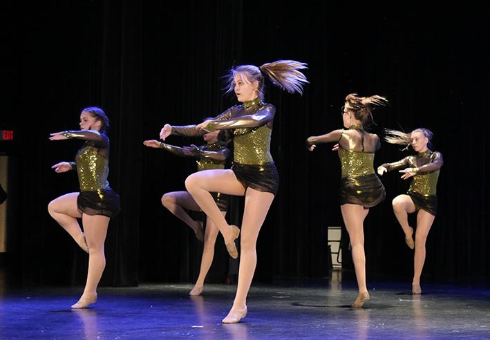 Dance students perform a number at the winter show.