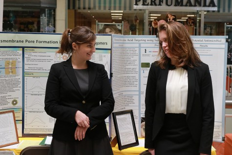 """I think that a lot of people judge success in science fair based on how a person places in the regional fair of if they go to the state competition or not,"" junior Tess Marvin (pictured right) said. ""For me, these are exciting indicators of hard work, but they are not the end all be all measure of success."" Marvin's project researched possible causes of Alzheimer's in certain proteins with partner senior Claire Weaver."