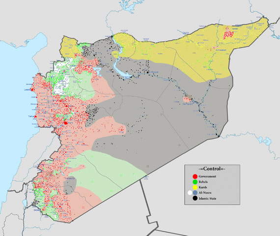 A glimpse at the various factions at war in Syria.