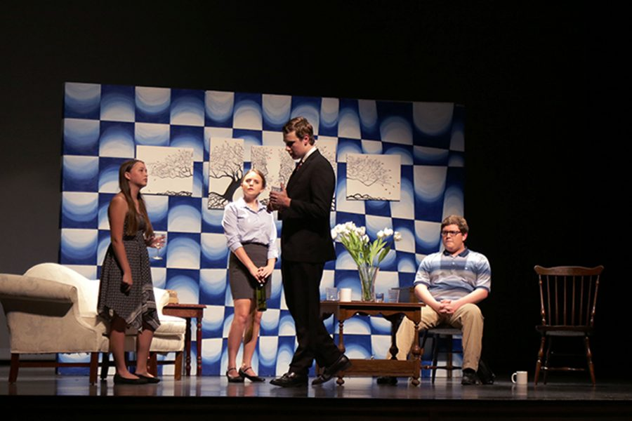 Theater students from the competition class put on a one act for the Nov. 16 Thespian District Showcase. This one act was prepared for the Thespian District Festival.