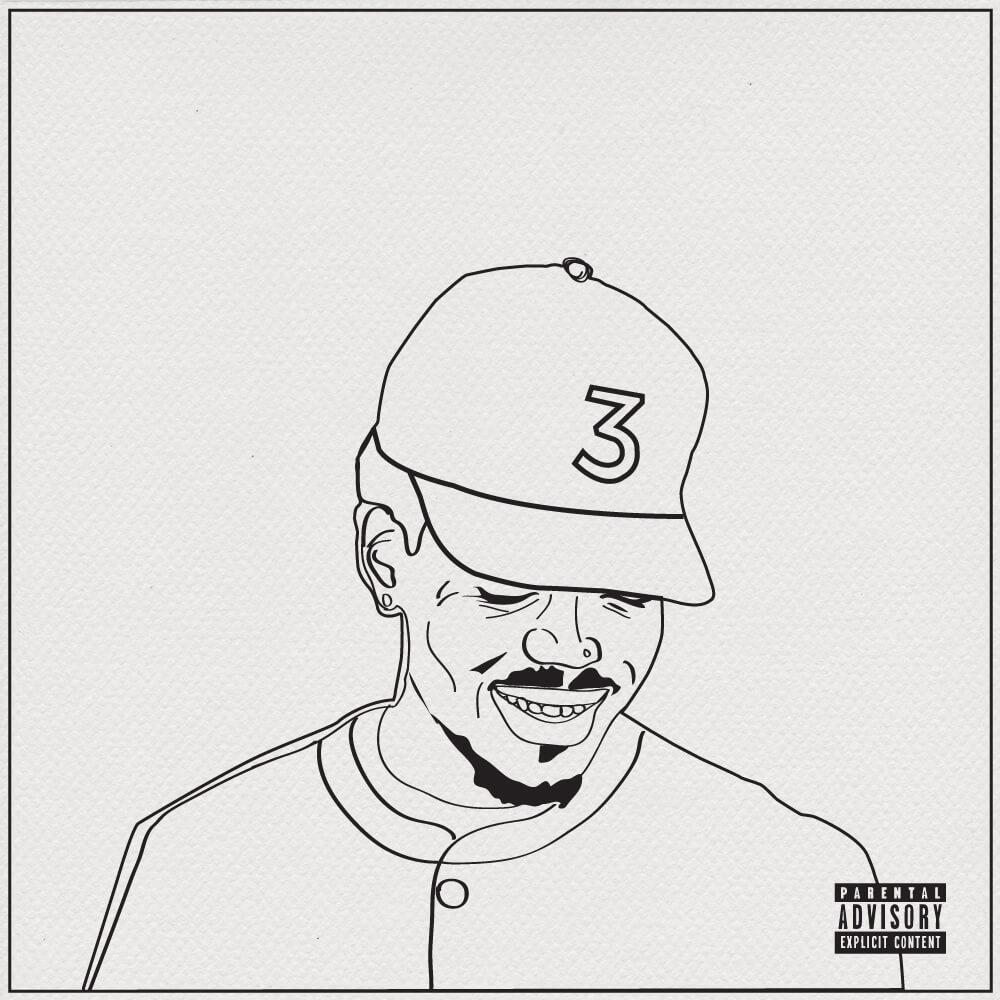 Chance the rapper artfully paints canvas in coloring book Coloring book by chance the rapper