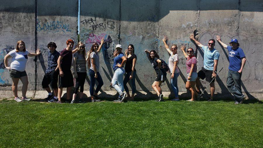 The most recent trip, to Eastern Europe, included tours to the Czech Republic, Germany and Poland.  While in Berlin, Germany, the group got to visit the Berlin Wall before making the hours-long trip back home.