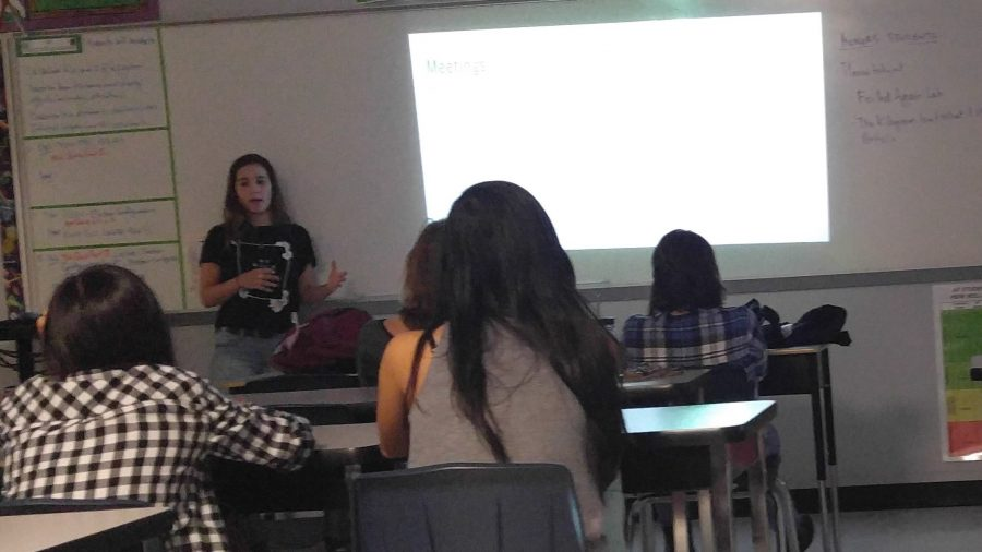 The co-president of the girl up club explains when the clubs future meetings will take place.