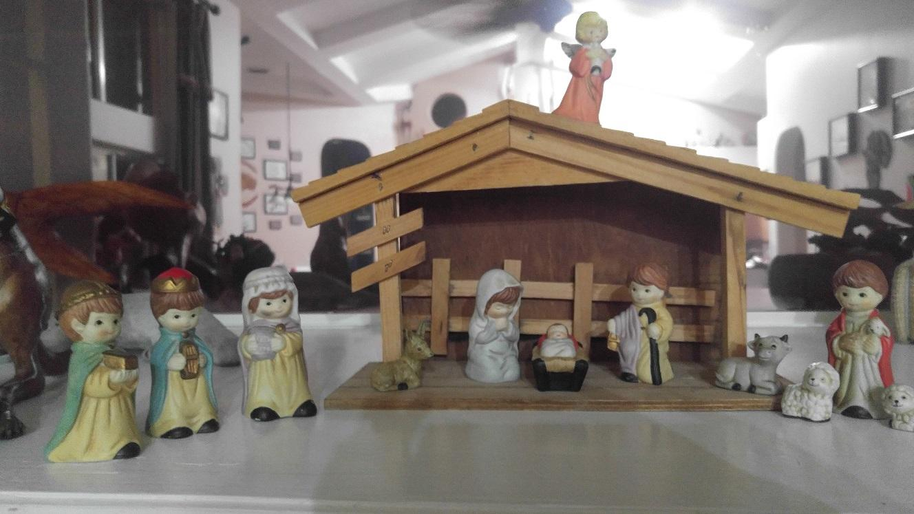 The nativity is a common Christmas decoration among Christians and depicts the scene of Jesus' birth. It is one of the truly Christian based decorations of the season.