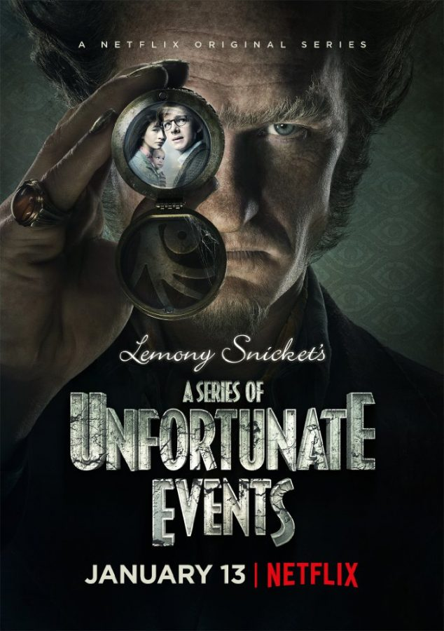 Cover+for+new+Netflix+series+%22A+Series+of+Unfortunate+Events%22+released+on+Jan.+13.+
