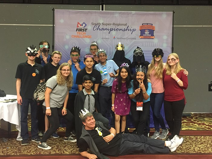 The team of 15 students and three coaches prepare to take on the national competition with some