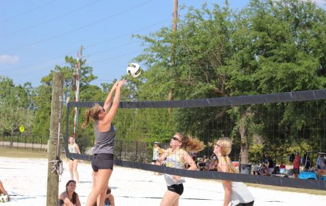 Beach volleyball defends new home