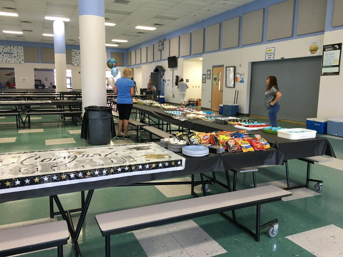 A photo from last year's Backyard Bash. Due to weather it had to be moved into the cafeteria.