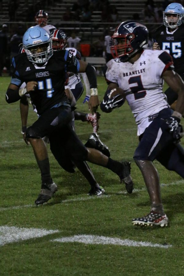 Defensive back Nik Wiggins chases down a Lake Brantley ball carrier on Aug. 25. The team beat Lake Brantley, 22-12, to start the season at 1-0.