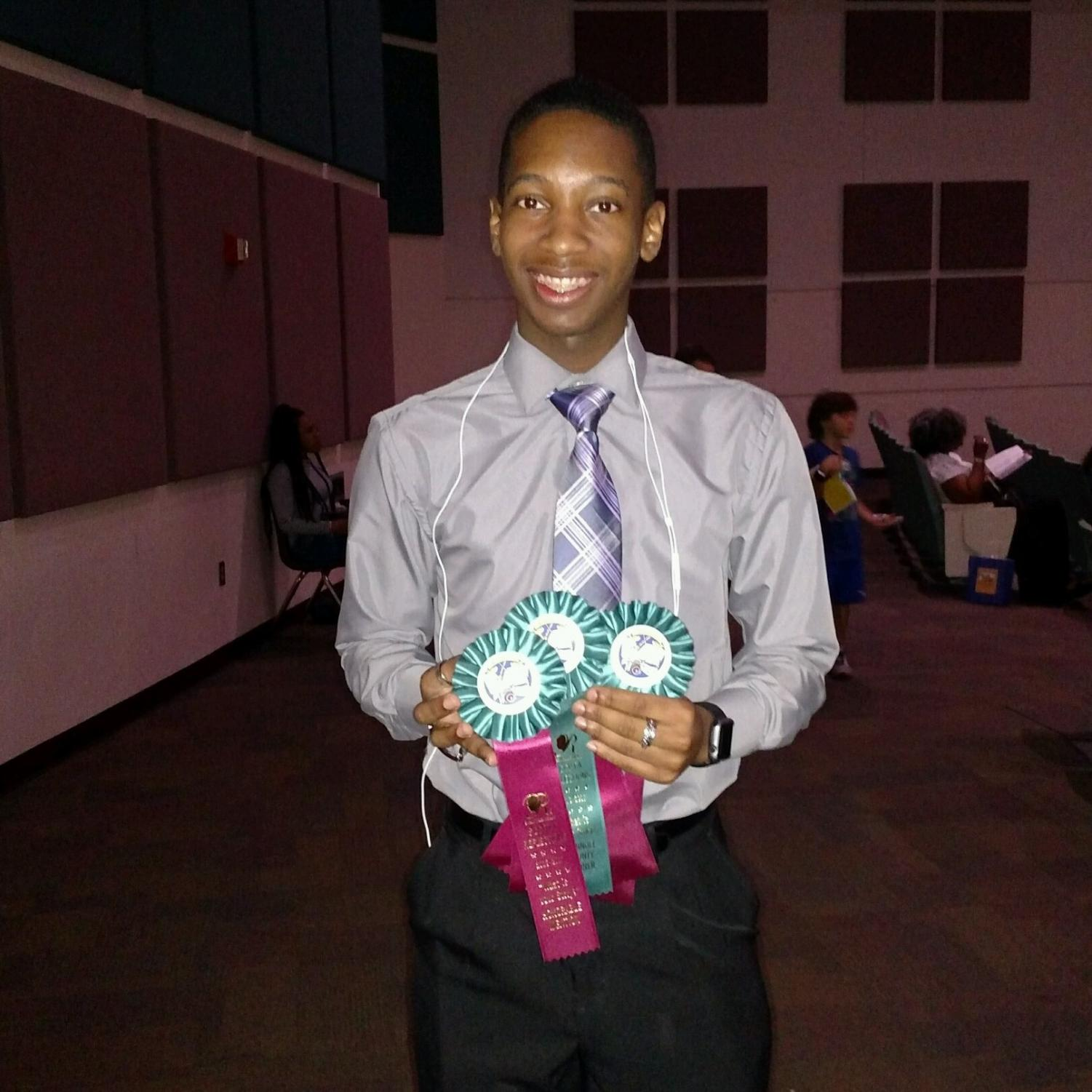 Last year junior Da'Zhaun Hicks won for dance choreography and received awards for music composition and literature. This year he is hoping to submit something again.