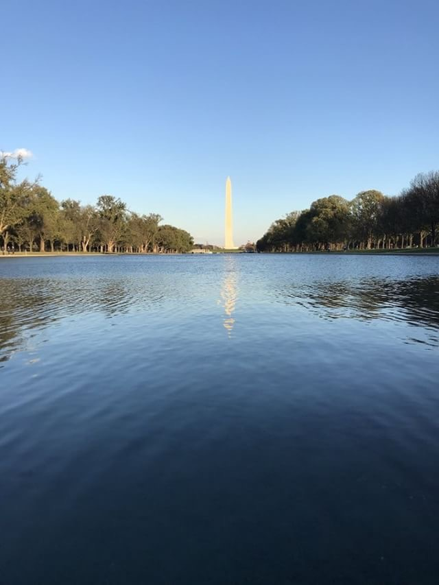 The Washington Monument is one of the most famous monuments in D.C. It was built to commemorate George Washington.