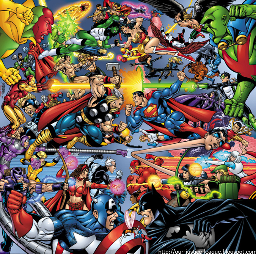 Heroes+from+the+Marvel+and+DC+universes+clash+both+in+the+comics+and+on+film.+Marvel%27s+next+film%2C+Black+Panther%2C+arrives+in+theaters+in+Feb.%2C+while+DC%27s+next+installment%2C+Aquaman%2C+releases+next+Dec.+