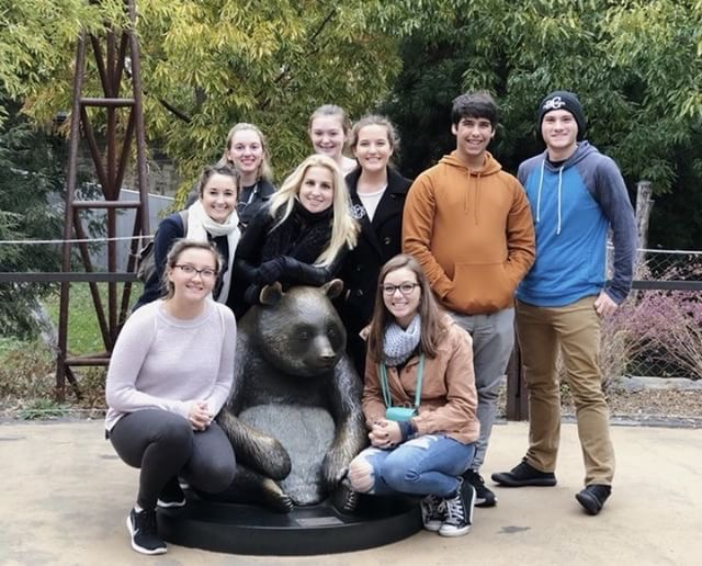 Some+band+members+pose+in+front+of+a+panda+statue.+They+took+a+trip+to+Washington+D.C.+over+Thanksgiving+break.+
