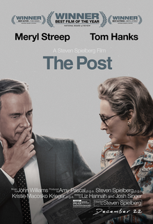 Cover for the movie The Post. The film was released on Jan. 12.