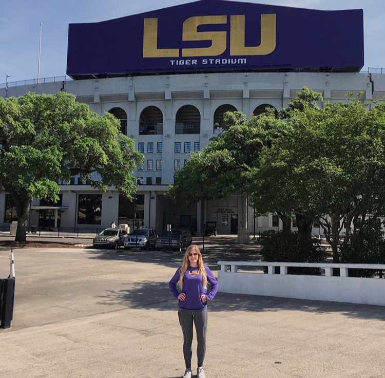Junior Anna Wimberly looked mostly at out of state schools including her top choice, LSU.