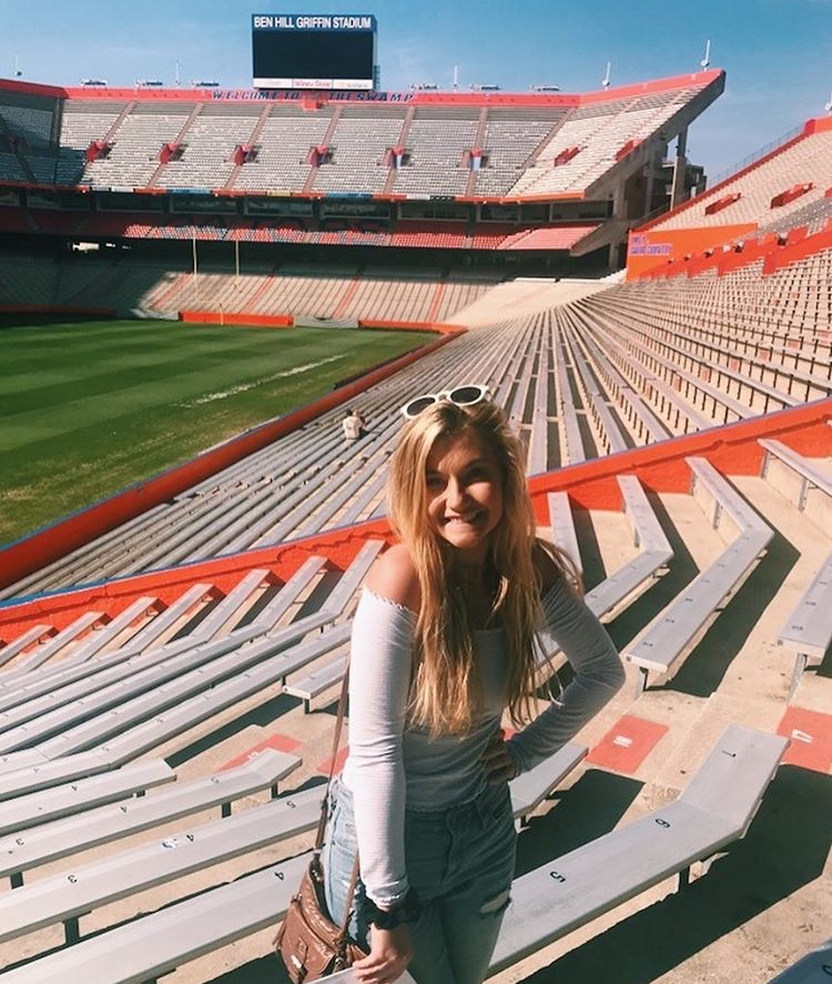 Junior Megan Maschhoff spent four days of her spring break touring UF, FSU, UCF, and University of Tampa. Currently she is most in favor of FSU because it is not too far away from home and the