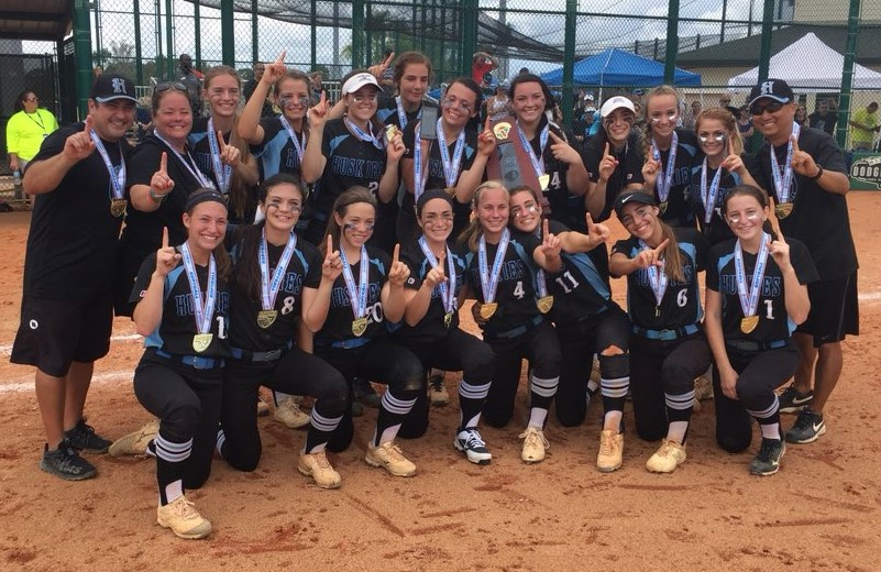 The+varsity+softball+team+shut+out+Oakleaf%2C+1-0%2C+to+earn+their+first+ever+state+title+on+May+24.