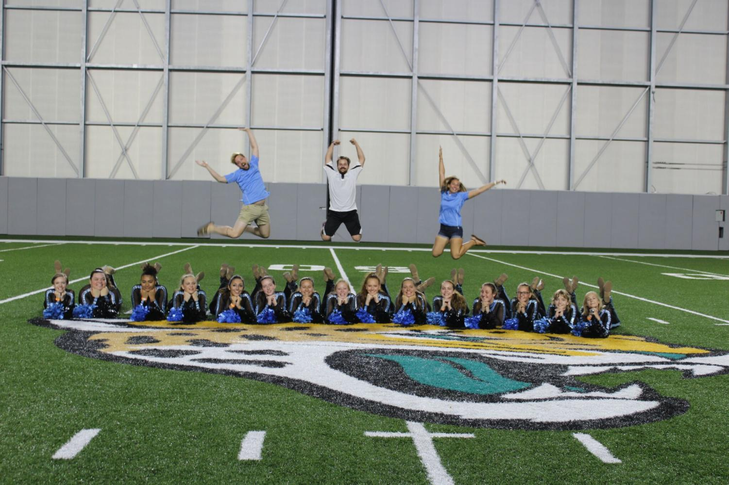 On Aug. 25, the colorguard team goes to perform at the Jaguars and Falcons NFL game.