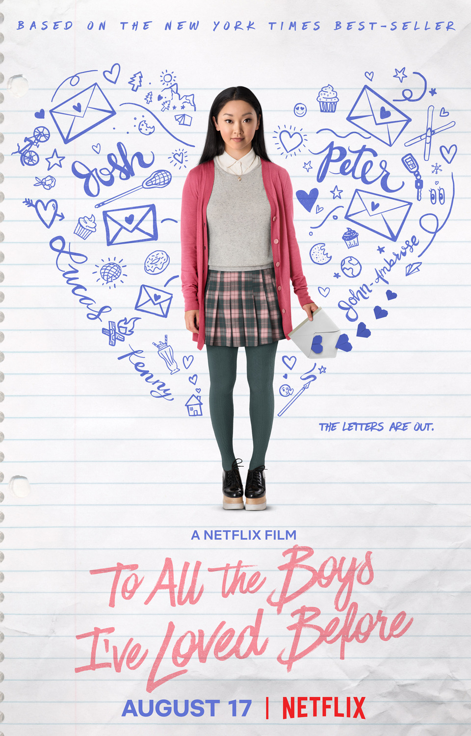 To All the Boys I've Loved Before premiered August 17th on Netflix.