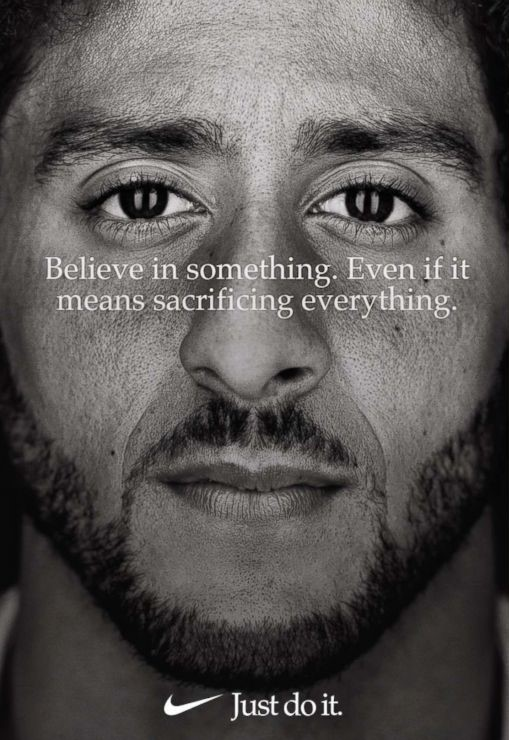 Colin+Kaepernick+is+one+of+the+feature+athletes+in+Nike%27s+latest+%22Just+Do+It%22+campaign.