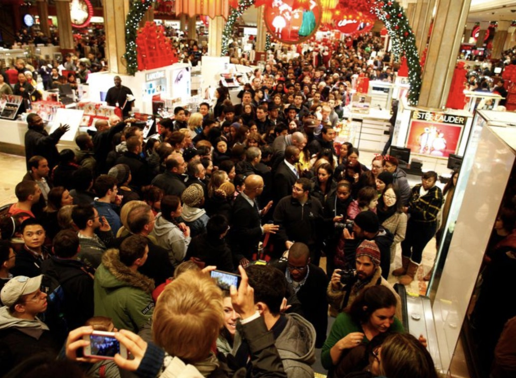 Black Friday draws thousands for the rush shopping experience every year.