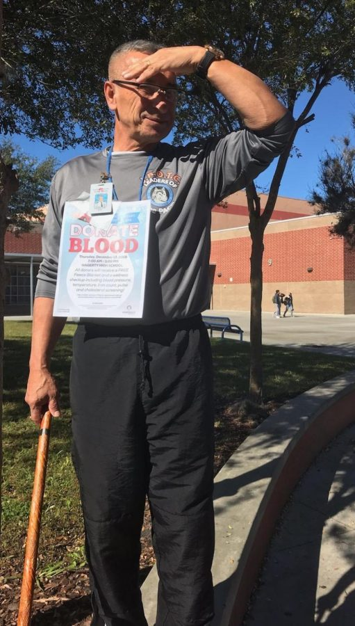 Vazquez is very active when it comes to the blood drive. If he could, he would donate every time.