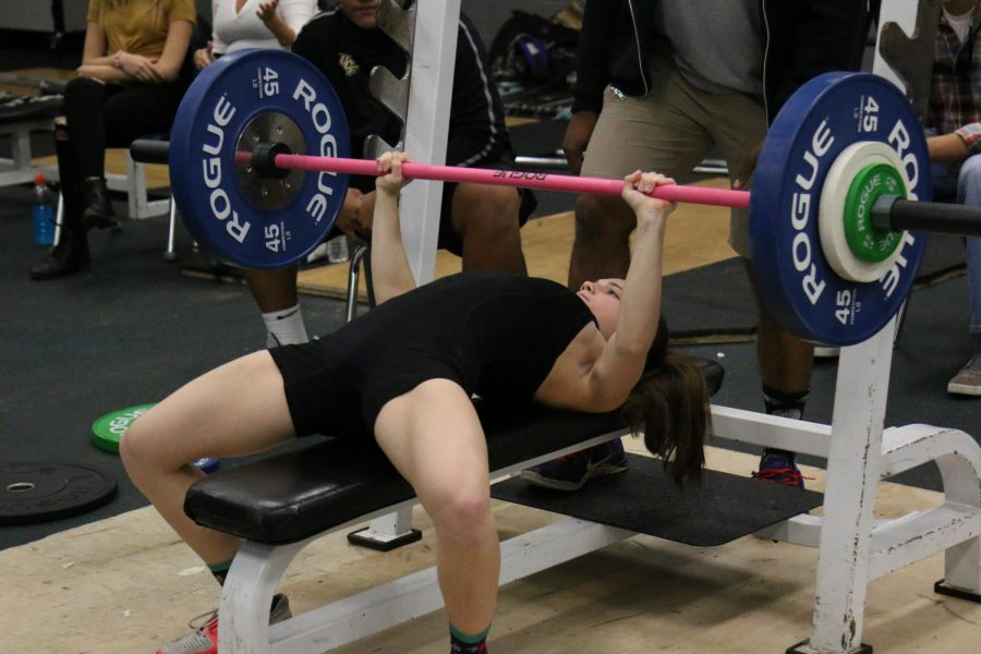 Senior+Cheyanne+Ducharme+on+her+school+record+attempt+for+the+110lbs+weight+class%2C+lifting+170lbs.