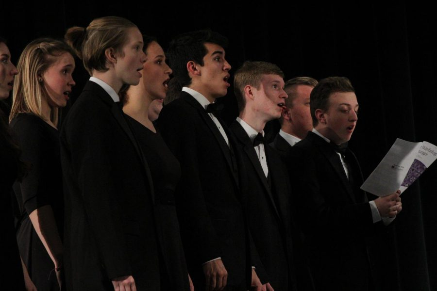 Concert Choir Ensemble singing