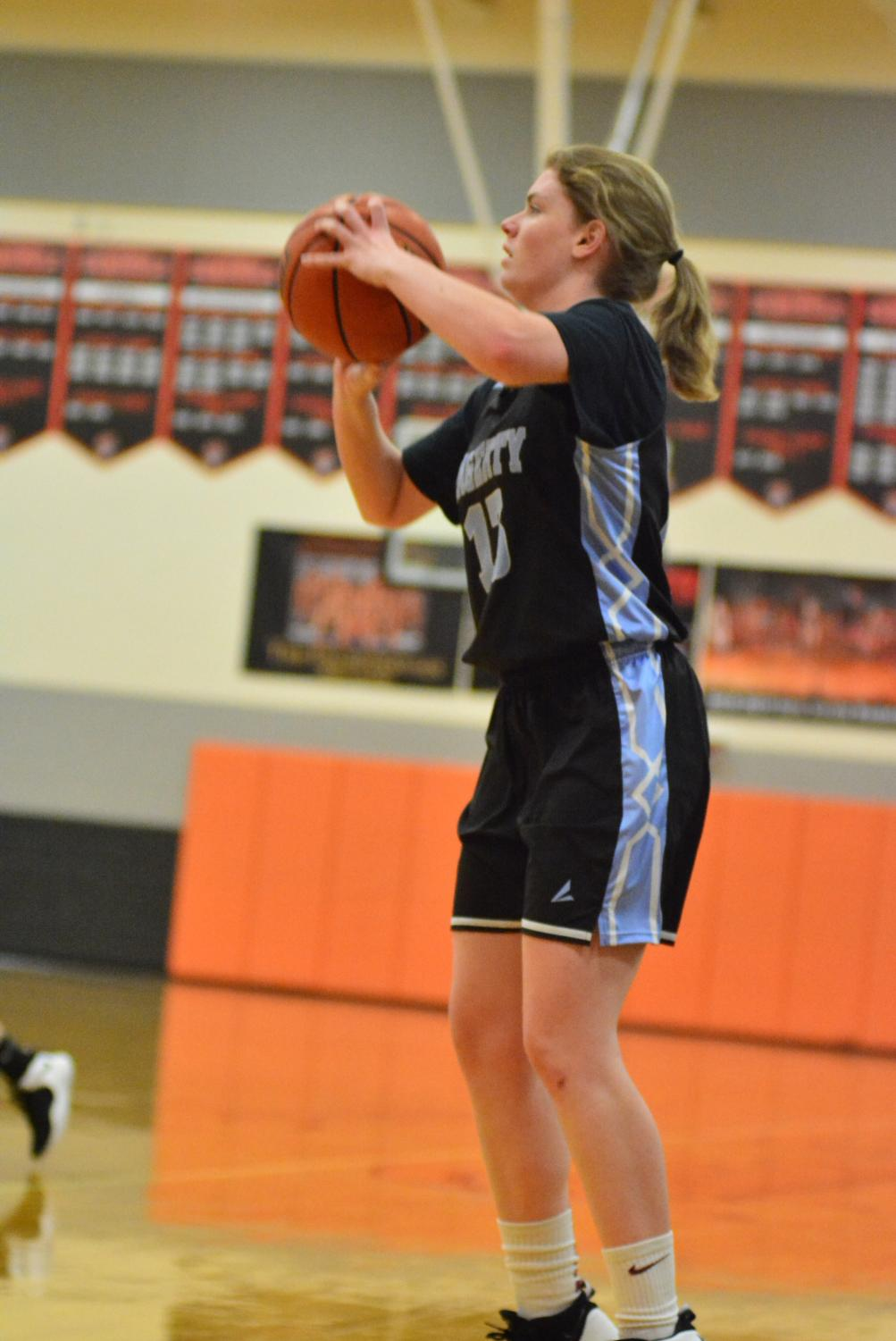 Shooting guard Megan Reilly scores eight threes in their first ever playoff win.