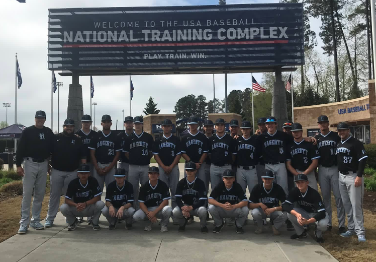 The+varsity+baseball+team+played+at+the+National+Training+Complex+in+Cary%2C+North+Carolina+for+the+National+High+School+Invitational+%28NHSI%29+on+April+3-6.+