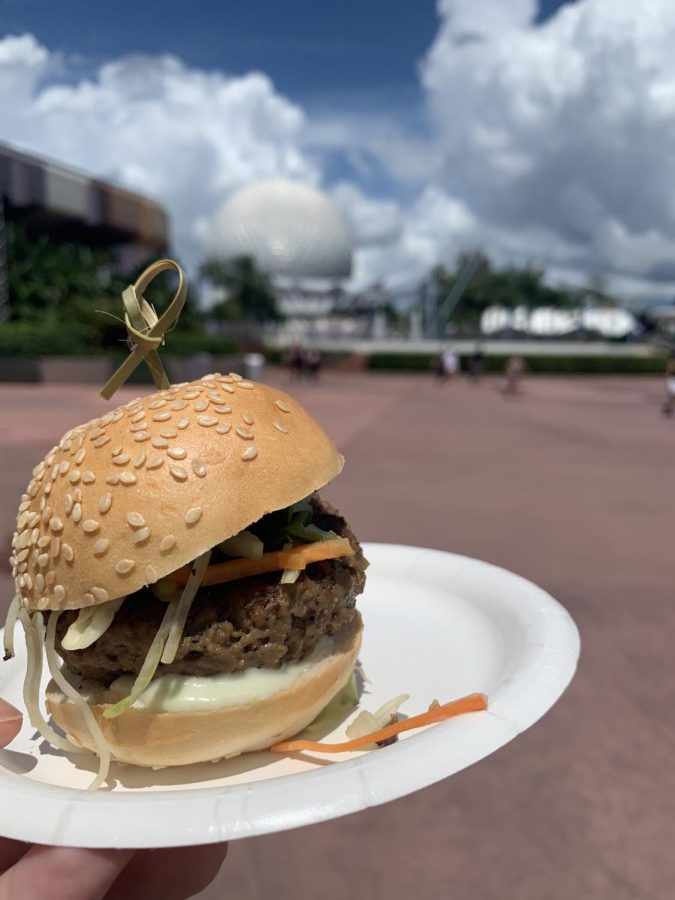 The Impossible slider is being served at Epcot's International Food and Wine Festival through November 23rd at the Earth Eats kiosk.