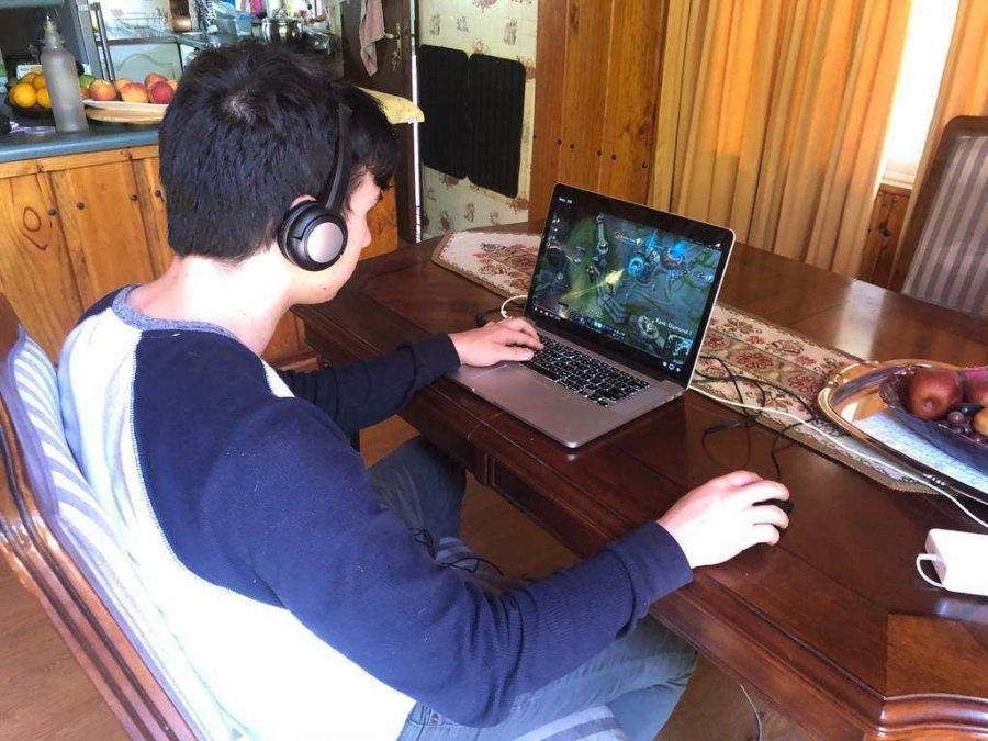 Senior Sergio Alcala plays while on vacation with his family in Ecuador.