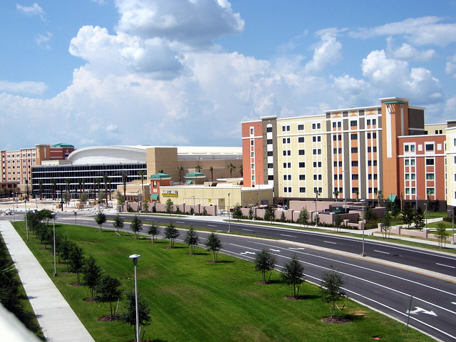 The UCF dorms and arena located in central Florida.