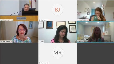 The SCPS school board brainstorms ideas on a Zoom meeting on July 14. They held a vote later that evening to make an official decision, yet assure parents and students that it can change should the situation call for it.