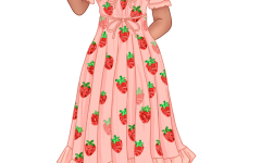 The Strawberry dress, created by Lirkia Matoshi has become the dress of the season.