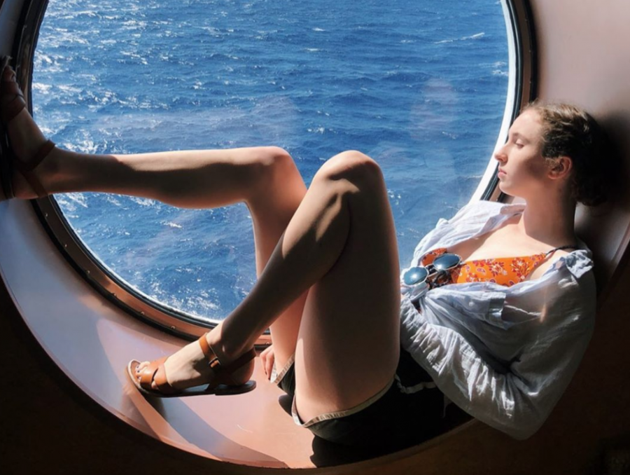 Junior Marianne Duncan relaxes and enjoys the view on a cruise through Central America. Duncan is passionate about traveling and loves to see different parts of the world.