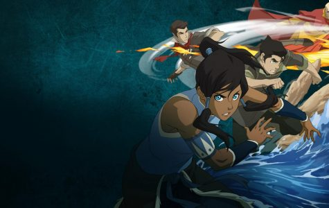 Korra along with the original members of her team, Bolin and Mako are featured with their respective bending abilities. Tenzin, the son of Avatar Aang is also shown.