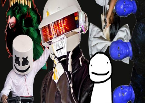 Celebrities such as: Marshmello, Daft Punk, Sia, Corpse Husband, Dream and the Blue Man Group all hide their identity from the public to maintain a private lifestyle.
