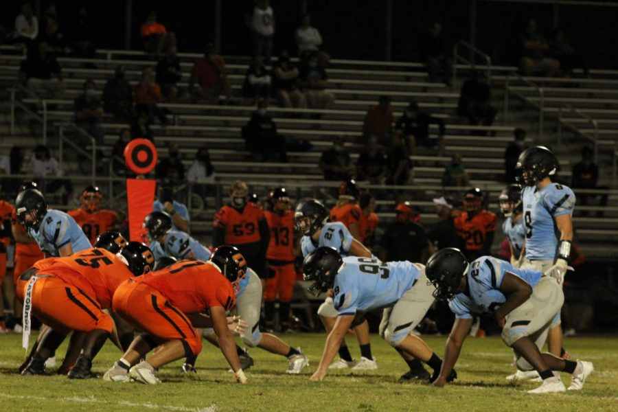 Varsity football faces off against Oviedo. They were tied most of the game, but lost 20-14.
