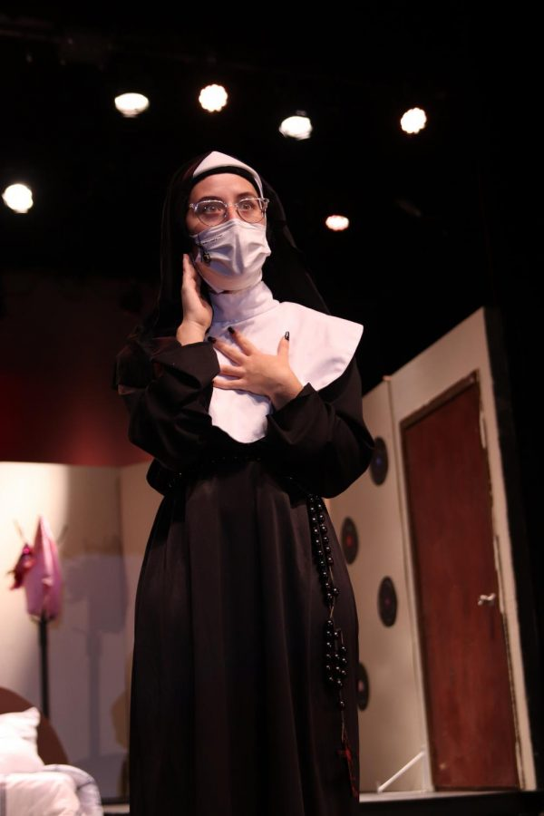 Sister Mary Amnesia, who is played by junior Olivia Martin, finally figures out who she is: a country singer.