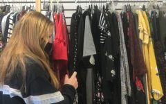 Sophomore Abigail Miller shops a Sweet Repeats, a local Oviedo thrift store.  Thrifting is often less expensive and more sustainable than buying from mainstream companies.